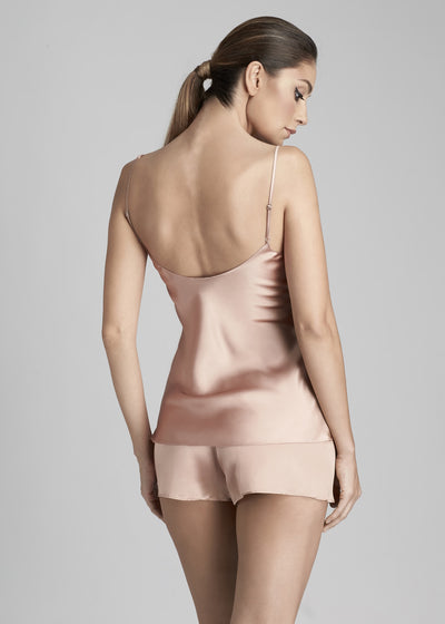 I.D. Sarrieri silk and lace camisole in rose