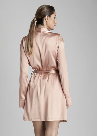 Desert Rose Short Robe in Rose Gold
