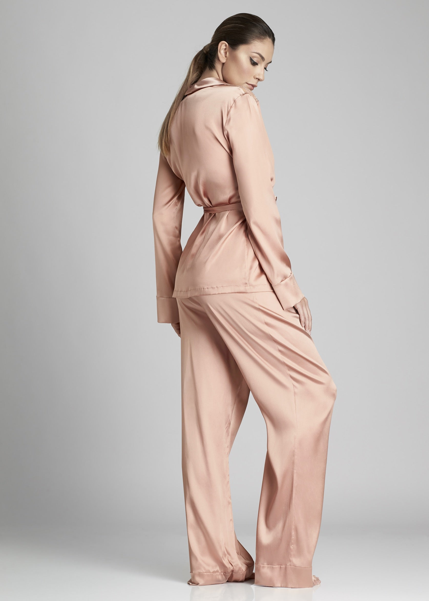 Desert Rose Pyjama Pants in Rose Gold - I.D. Sarrieri