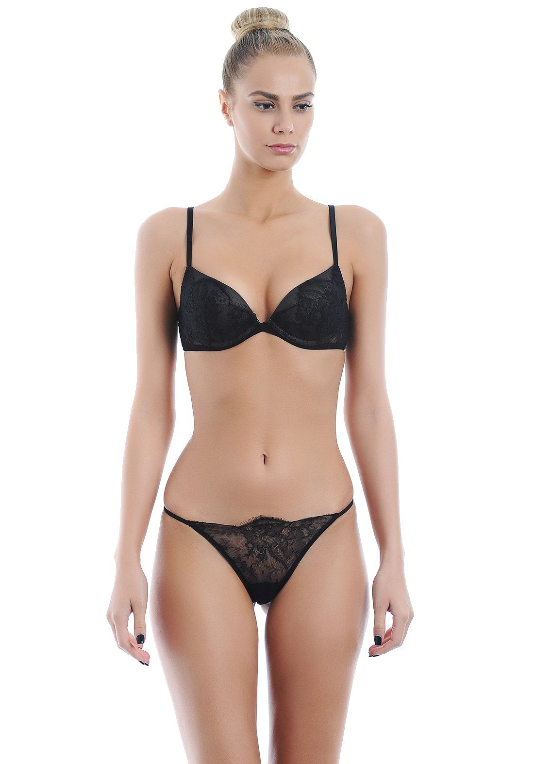 Belle Du Jour Padded Bra in Black