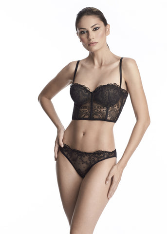 Clair de Lune Brazilian Brief in Midnight Blue