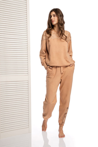Sunday Brunch Track Pants in Camel - I.D. Sarrieri