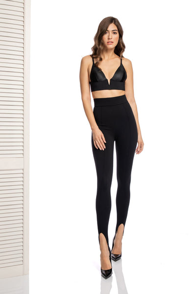 Alessia Stirrup Leggings in Black - I.D. Sarrieri