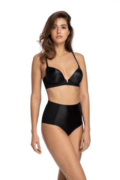 Alessia High Waist Brief in Black - I.D. Sarrieri