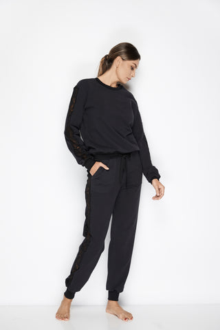 After Hours Long Sleeve Top in Black