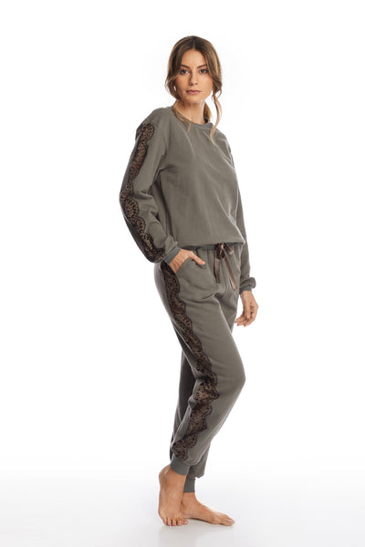 After Hours Pants in Grey/Mink