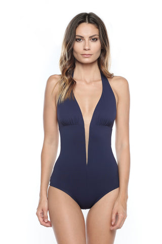 Caprice d'Été Swarovski Embellished Triangle Swimsuit in Lipstick