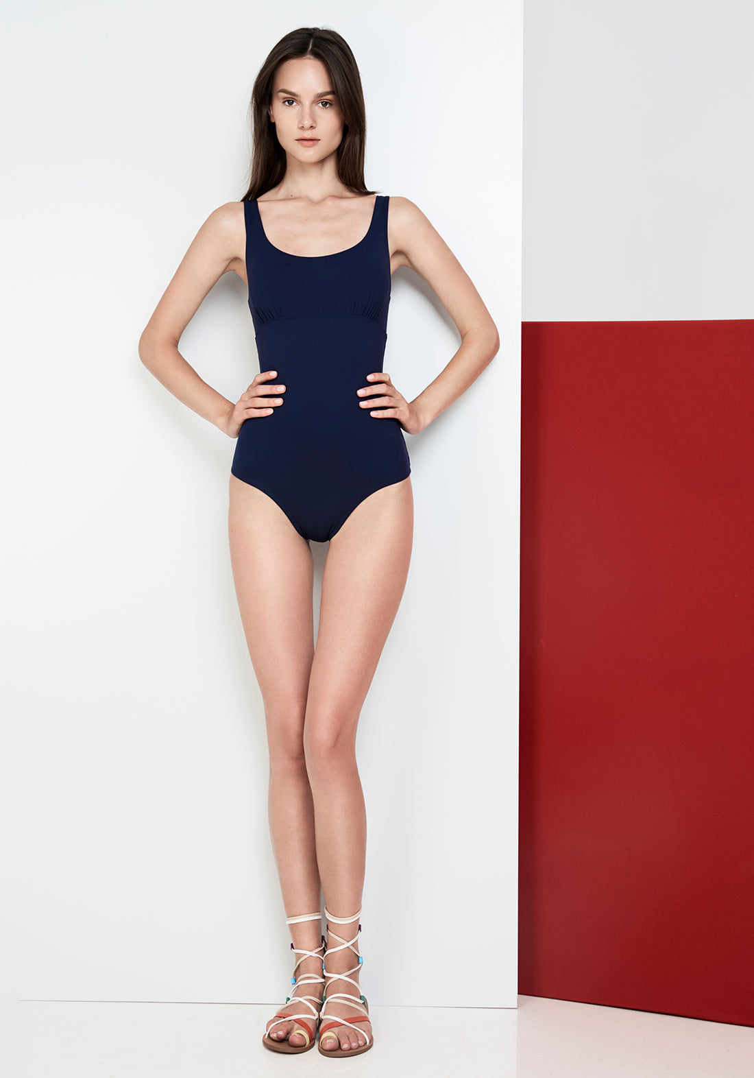 Caprice d'Été Retro Swimsuit in Navy