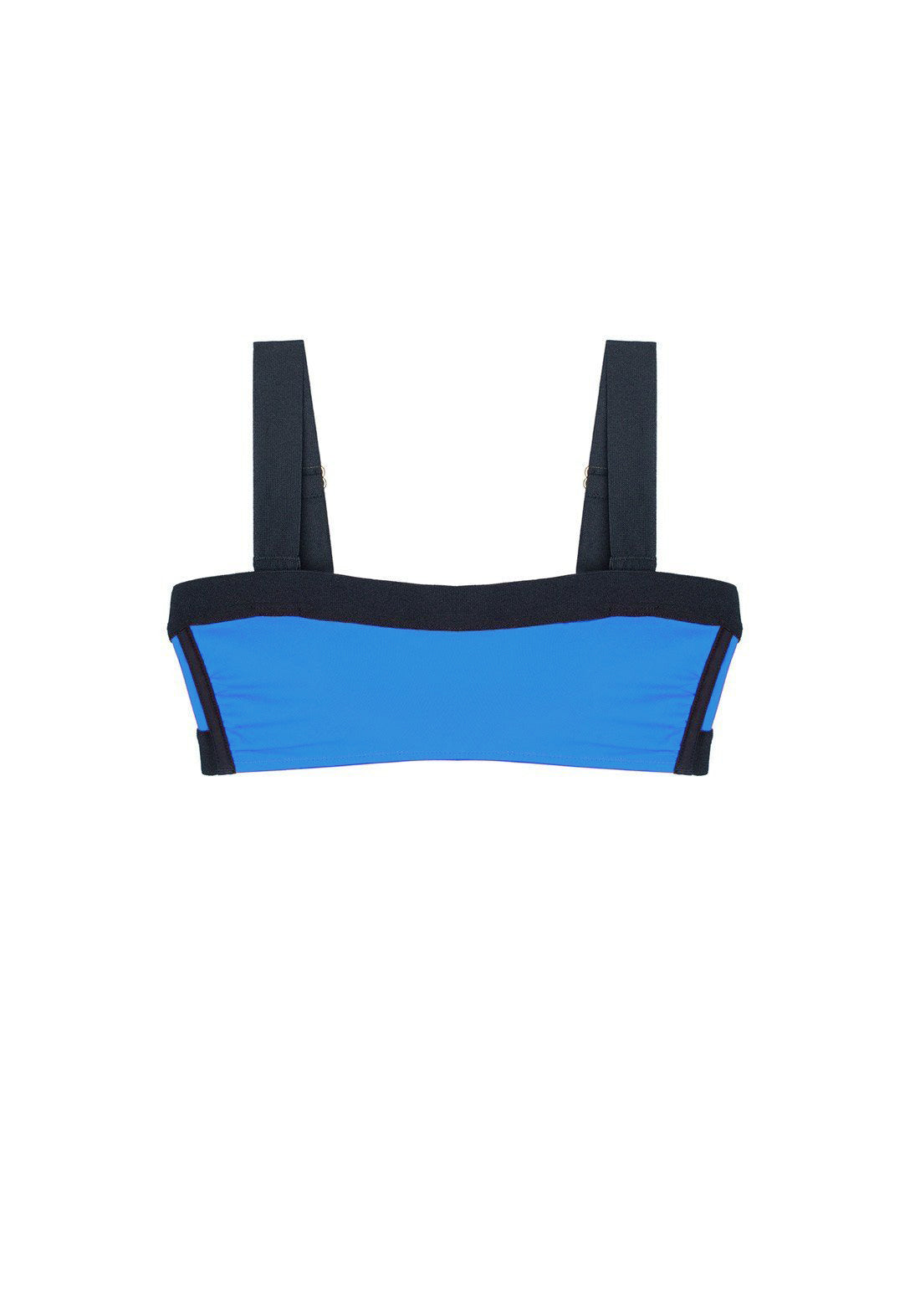 Catch Me If You Can Bandeau Bikini Top in Electric Blue