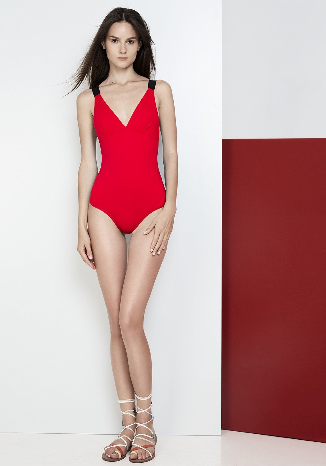 Catch Me If You Can Swimsuit in Lipstick