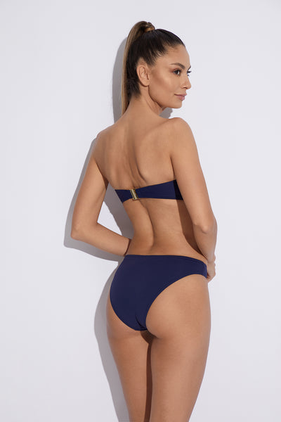 Musha Cay Bandeau Bikini Top in Navy - I.D. Sarrieri