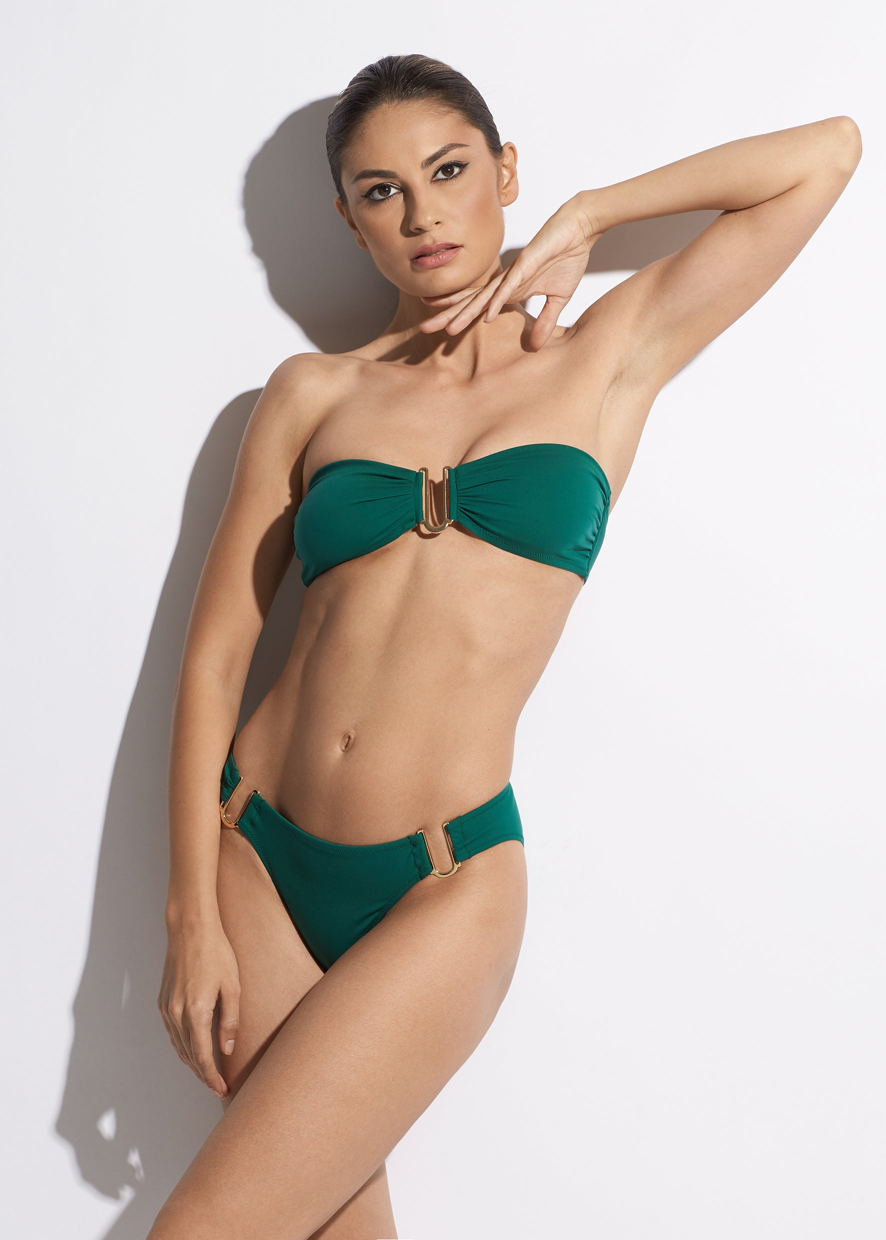 Rêve d'Été Bandeau Bikini Top in Green