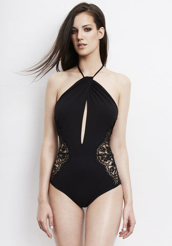 Elite Cutout Swimsuit in Black
