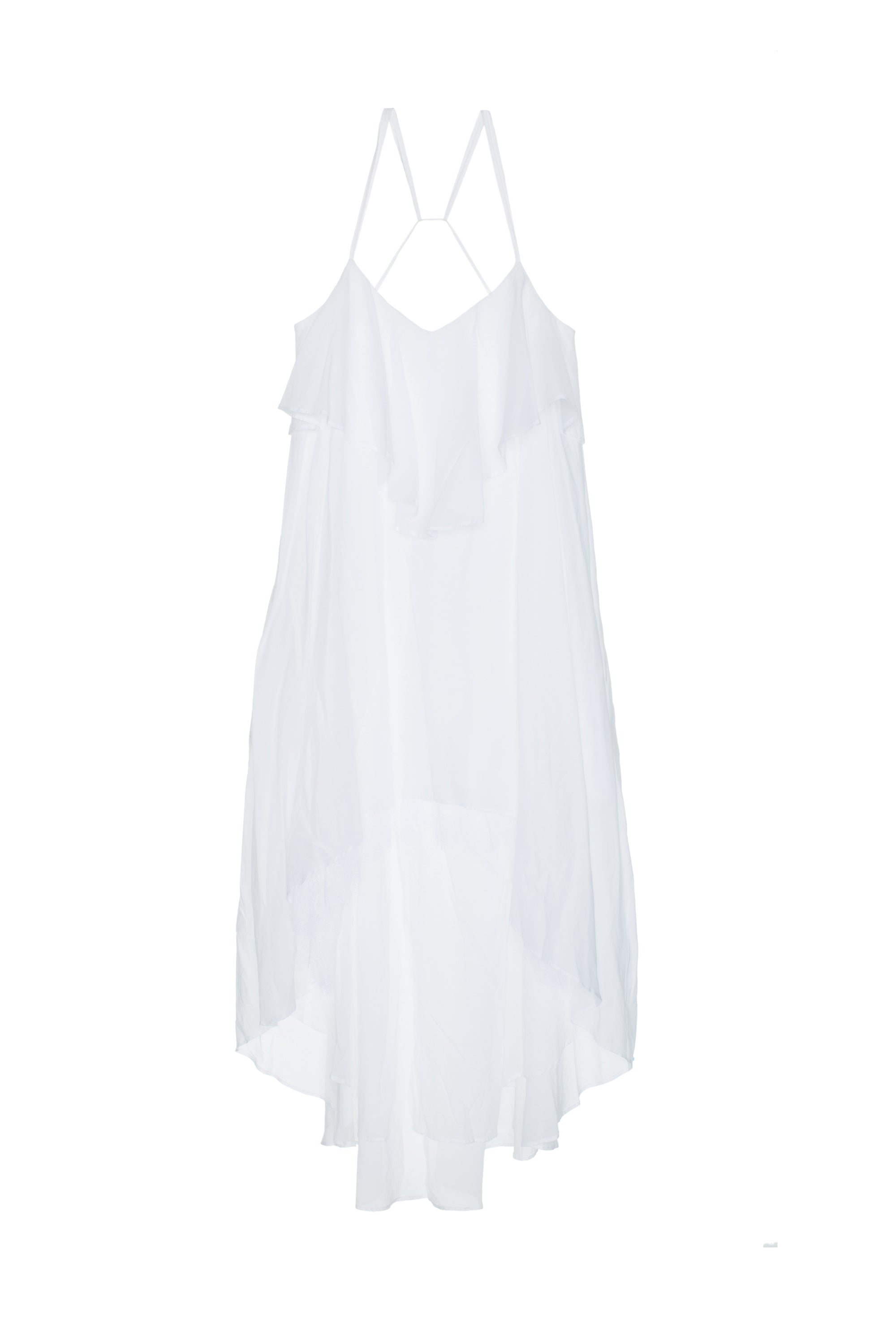 Paradiso Strappy Open Back Midi Dress in White