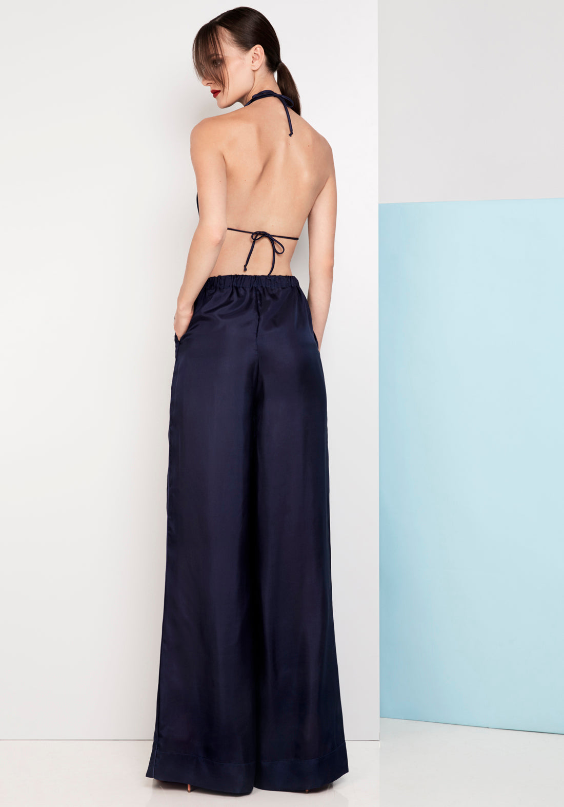 Wanderlust Wide Leg Pants in Dark Blue