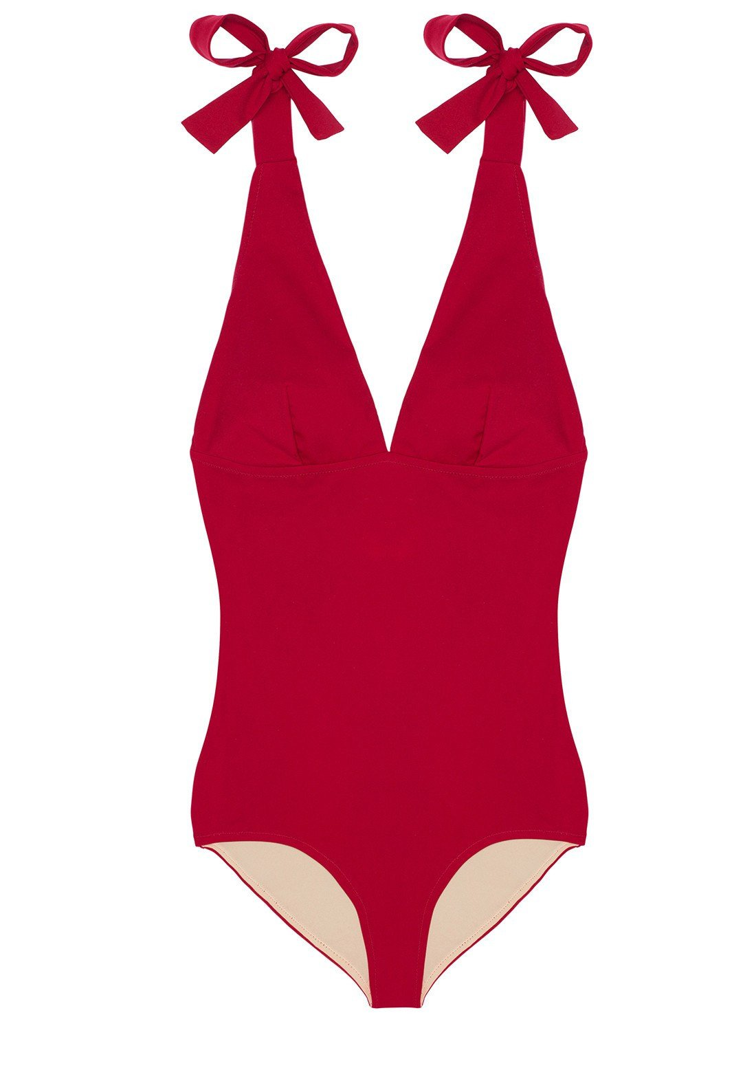 Été à Nice Triangle Swimsuit in Scarlet Red