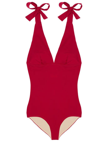 Été à Nice Bandeau Top in Scarlet Red