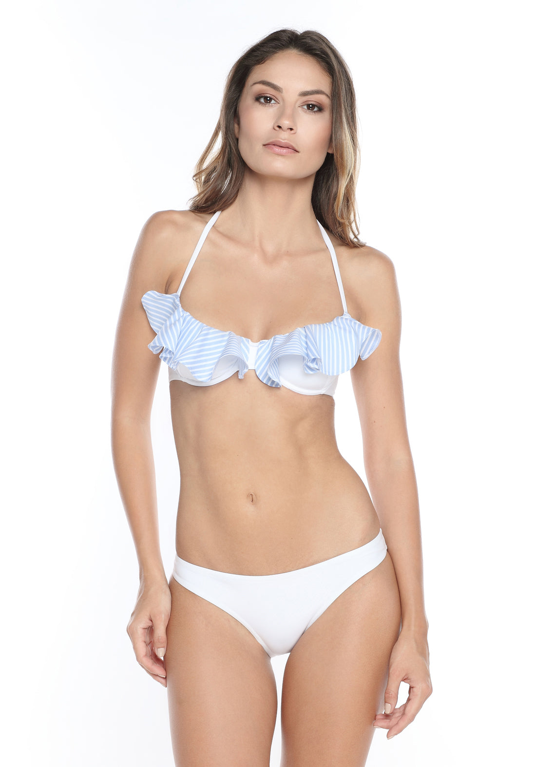 Fleur à la Plage Underwired Bikini Top in Vanilla/Aqua