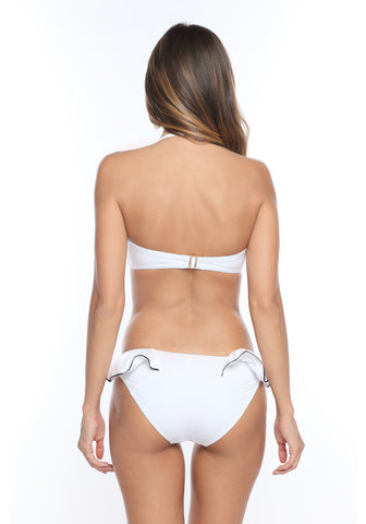 Escapade à Madère Bikini Brief in White