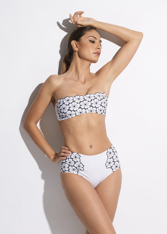 Voyage à St Tropez Bandeau Swimsuit in Black
