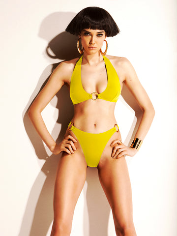 Catch Me If You Can Bikini Briefs in Tropical Yellow