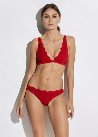 Malibu Sunshine Bikini Bottoms in Red