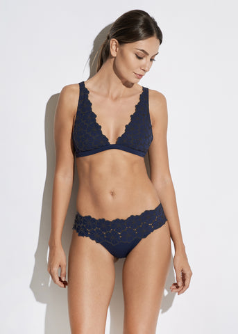 Fantasia Underwired Balconette Bra in Navy