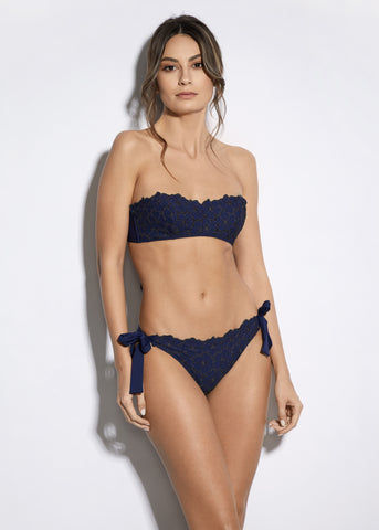 Malibu Sunshine Padded Balconette Bikini Top in Navy