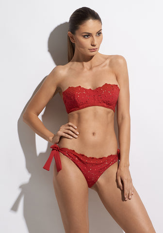 Malibu Sunshine Padded Balconette Bikini in Red