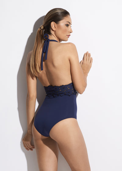 Malibu Sunshine Swimsuit in Navy
