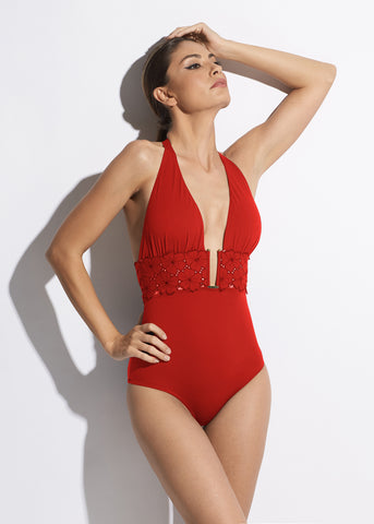 Malibu Sunshine Swimsuit in Red