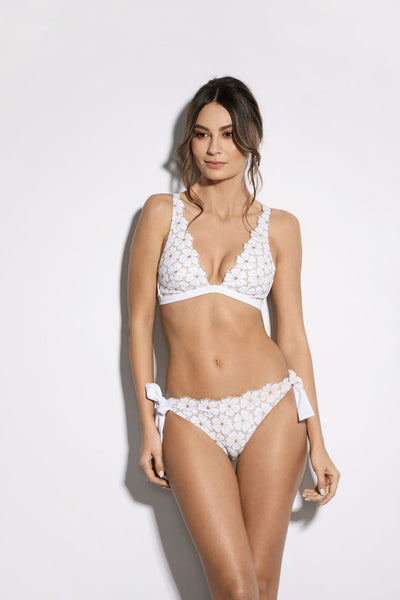 Soleil D'été Bikini Top in White/Gold - I.D. Sarrieri