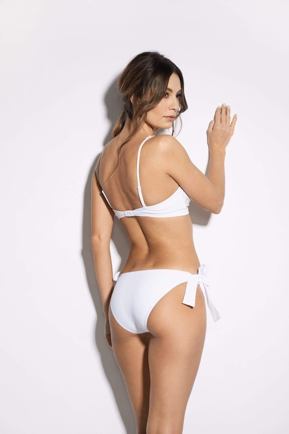 Soleil D'été Bikini Brief in White/Gold - I.D. Sarrieri