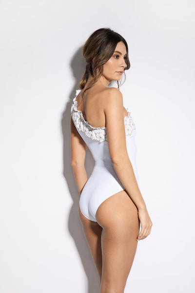 Soleil D'été Swimsuit in White/Gold - I.D. Sarrieri