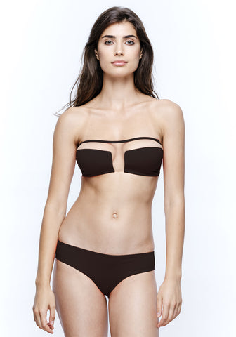 Nights in Santa Monica Push Up Bikini Top in Black
