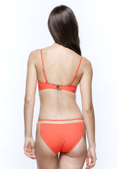 Sunrise in Seychelles Tulle Bikini in Red Orange