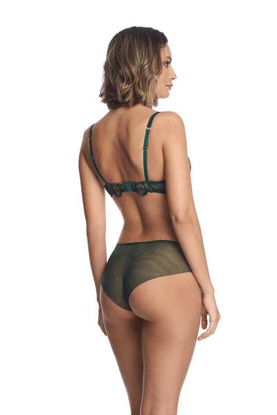 Petite Fleur Brief in Dark Green - I.D. Sarrieri