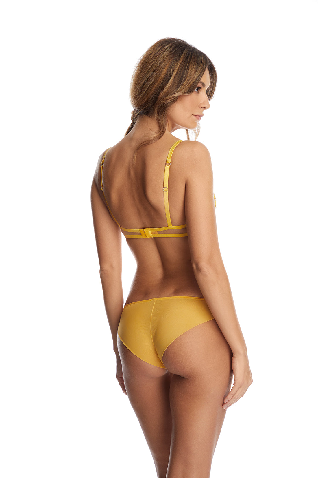 Annabelle Brazilian Brief in Sunflower - I.D. Sarrieri