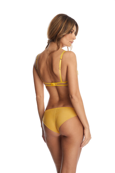 I.D. Sarrieri embroidered tulle brief in Sunflower