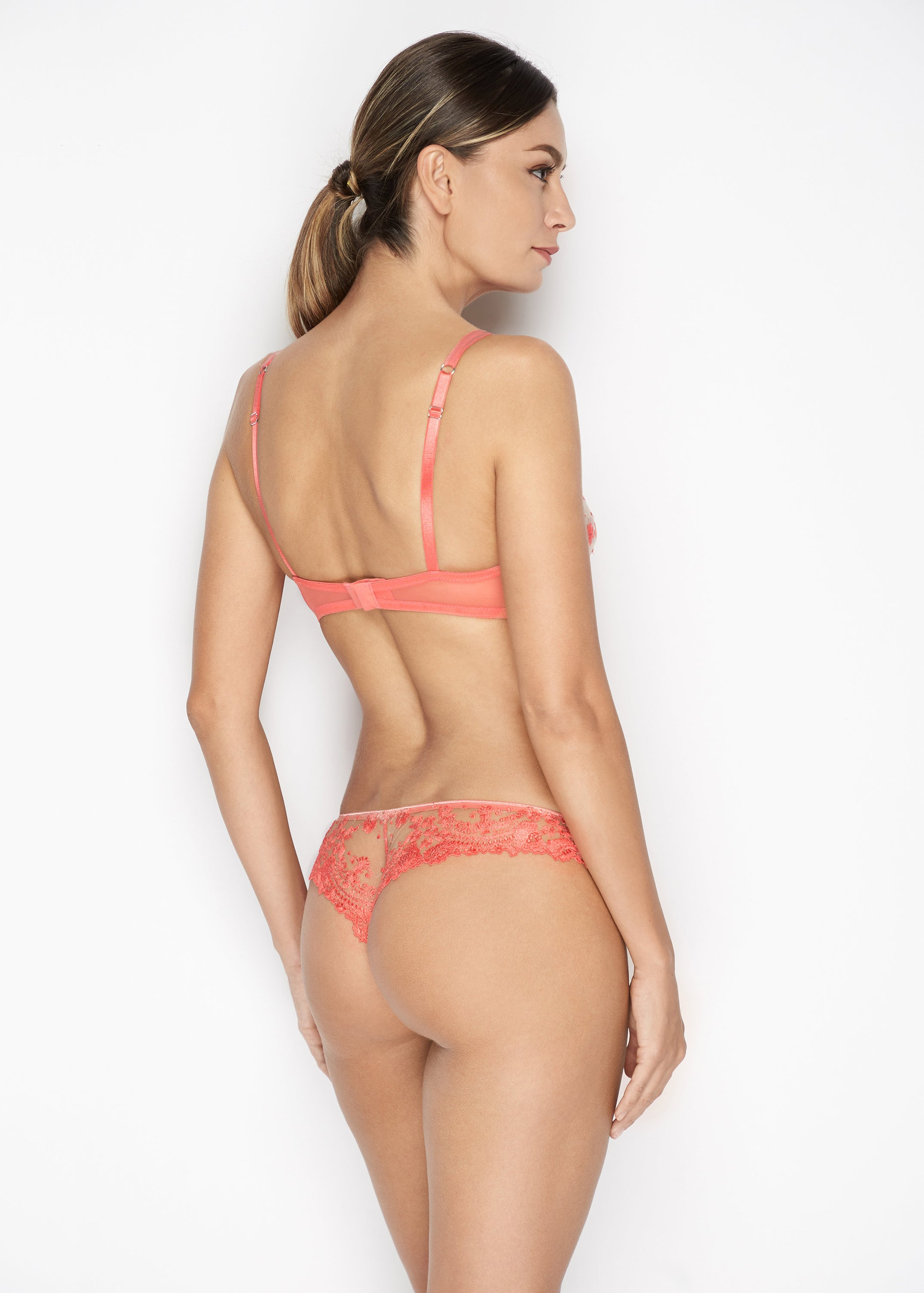 Annabelle Thong in Coral - I.D. Sarrieri