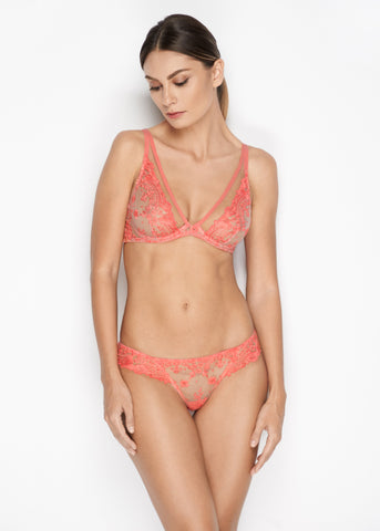 Annabelle Thong in Coral