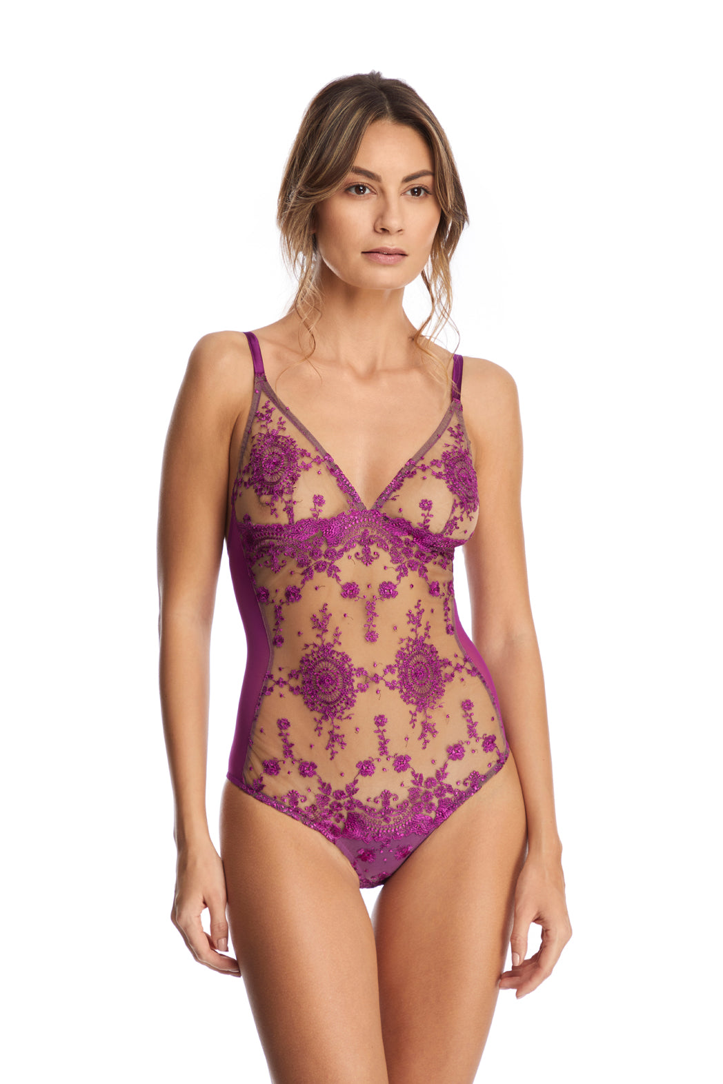 I.D. Sarrieri embroidered triangle bodysuit