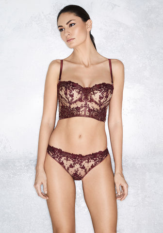 Annabelle Underwired Bustier in Rosewood