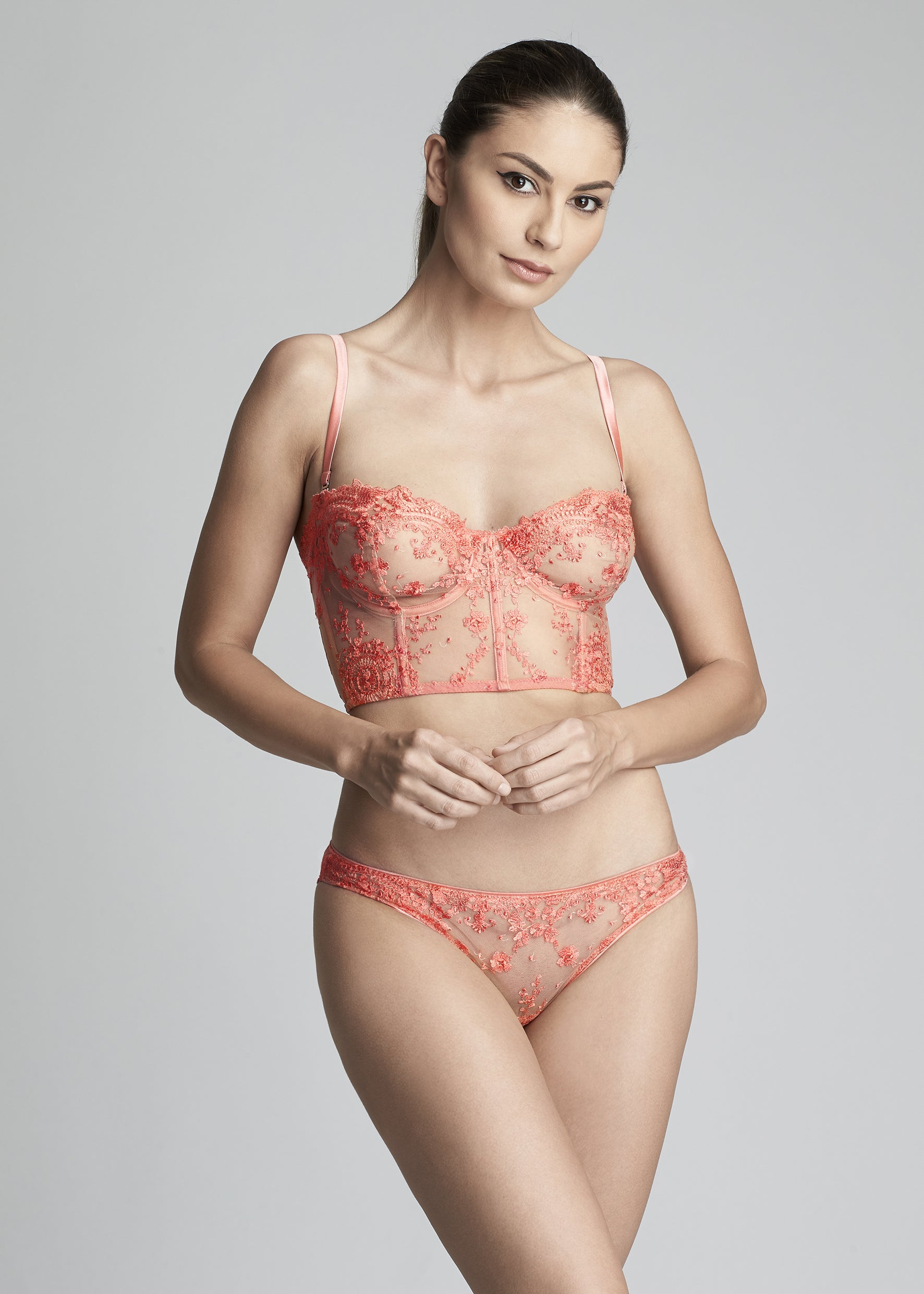 Annabelle Underwired Bustier in Coral