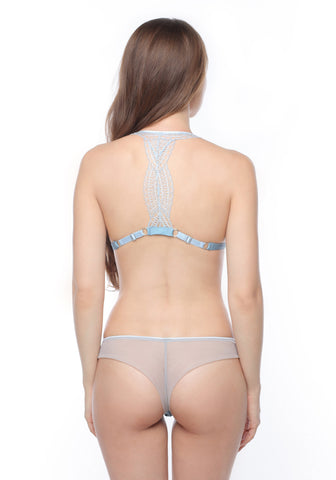 Célestine Tulle Thong in Serenity Blue