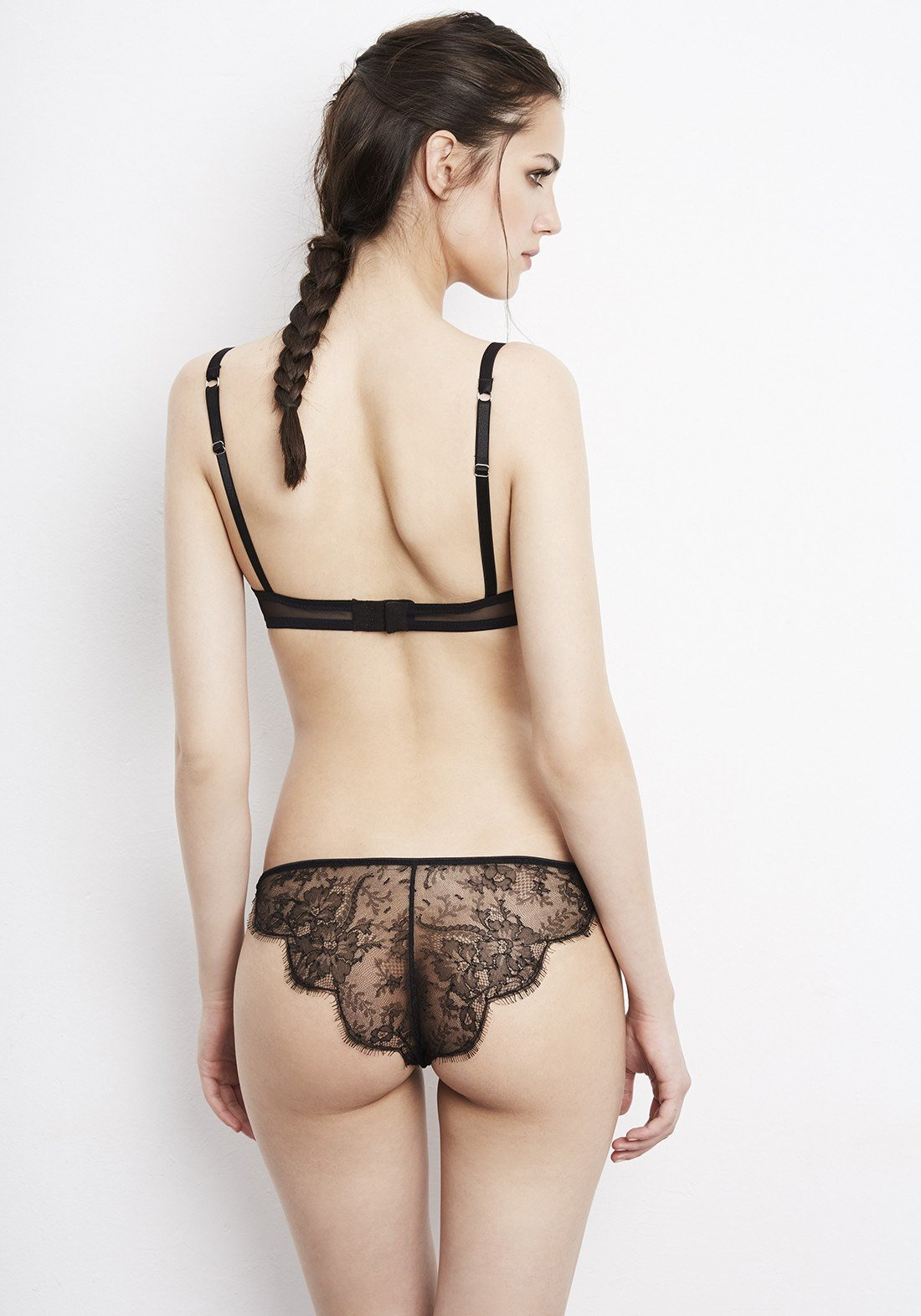 Chimère Lace Brief in Black