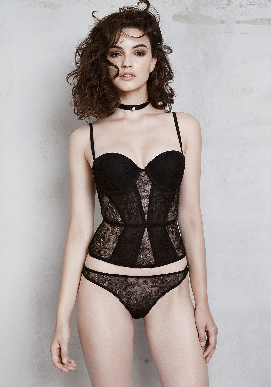 Chimère Lace Corset in Black