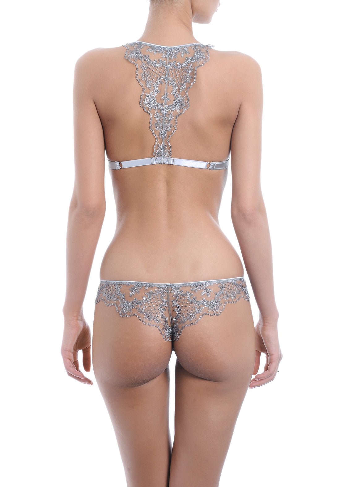 Accord Privé Panty String in Silver