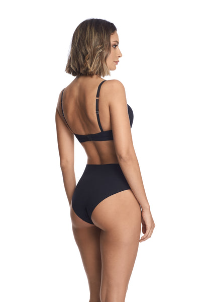 Essentials High Waist Brief in Black - I.D. Sarrieri