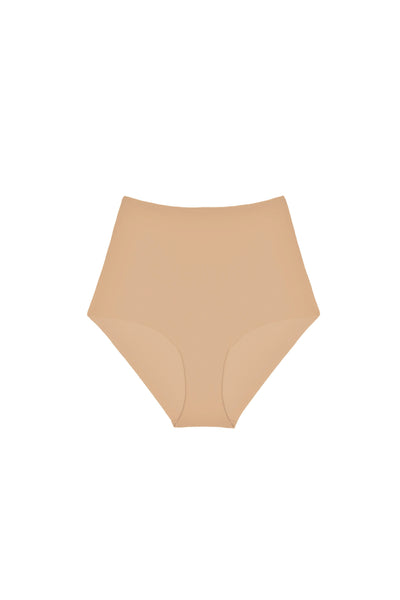 Essentials High Waist Brief in Nude - I.D. Sarrieri